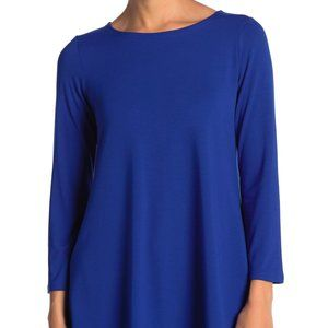 Eileen Fisher RoyalBlue Solid Long Sleeve Tunic 3x